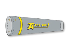 Top Air® Gray/Yellow Windsock