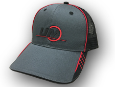UM Charcoal Mesh Hat with Red Accents