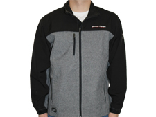 DRI-DUCK Black/Heather Softshell Jacket