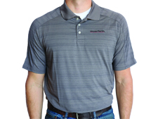Unverferth Lands' End Active Polo - Gray