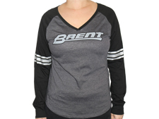 Brent Ladies' Long Sleeve V-Neck Tee