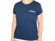 Brent Ladies Navy Short Sleeve T-Shirt