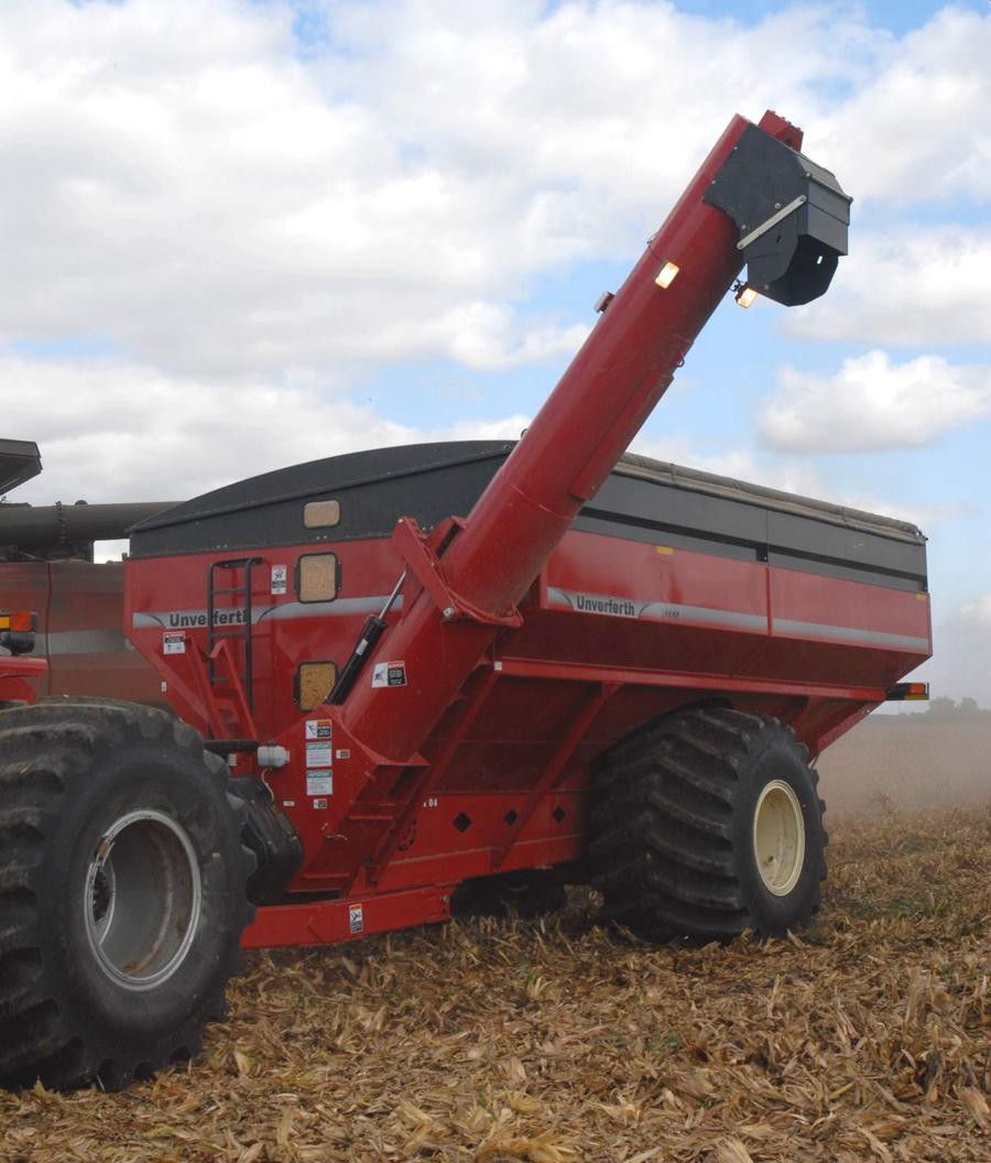 Wheels Double Auger Grain Cart
